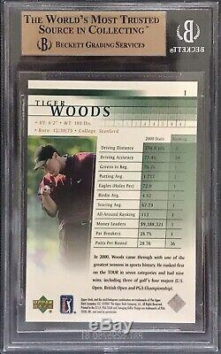 Tiger Woods 2001 Upper Deck #1 Rookie BGS 10 Only 0.5 Away From Black Label