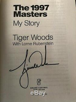Tiger Woods Authentic Signed Book With Original Reciept From Signing