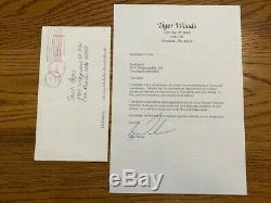 Tiger Woods Signed letter from 2000's
