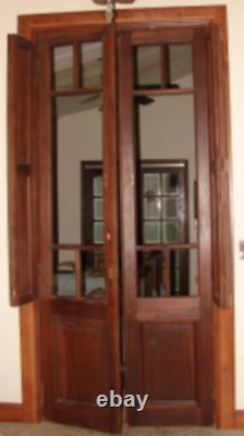 Unusual Antique Tall Double Doors withShutters from Venezuela 1910 Buy 1 or Both