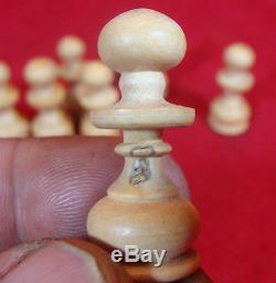 VINTAGE FRENCH CHESS SET HAND MADE FROM WOOD with original box