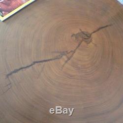 VINTAGE GENUINE SAMAN WOOD SLAB COFFEE TABLE From The AMAZON RAINFOREST RARE
