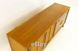 VTG MCM Caned & Walnut LOWBOY Dresser from West Michigan Furniture Co