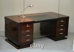 Very Fine Art Deco Rosewood Desk Bought From Galerie Jacques Lacoste Paris