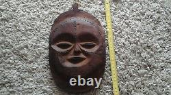 Vintage African Tribal Hand Carved Wood Face Mask from Bijagos Archipelago Guine