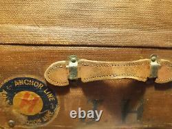 Vintage European Bentwood Trunk from Glasgow Scottland