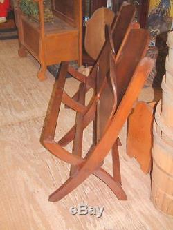 Vintage Oak Theater Seats, Folding, Early 1900's, from Appalachian Mountains