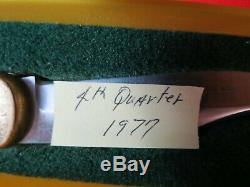 Vintage Puma 965 Deer Hunter Knife & Jacaranda Handles Mint In G/Y FROM 1977 GER