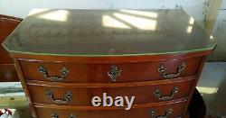 Vintage Solid Wood Dresser From 1952 With Glass Top