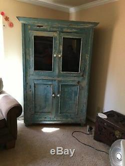 Vintage wood kitchen Cabinet Hutch 150 years old from Ireland-moving must sell