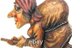 Wooden Baba-Jaga Figure Hand carved from solid Linden wood Wooden Home Decor
