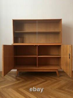 Wooden Sideboard with Bookcase from Jitona, 1960s