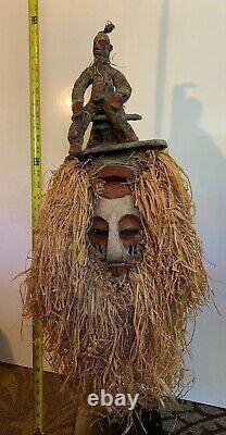 Yaka African Initiation Mask From Congo