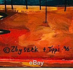ZBYSZEK KOZIOL ORIGINAL OIL ON WOOD LESTER LEGGINGS BIRD from KEY WEST GALLERY